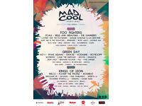 3 Days Ticket for Mad Cool Festival 2017 (Spain)