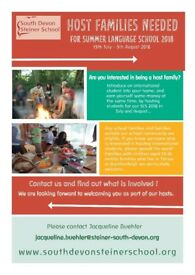 We are looking for Host Families - Summer Language School 2018