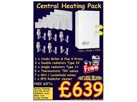 Central heating radiators combi boiler timer, thermostatic radiator valves