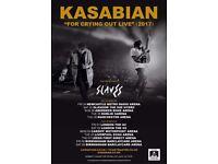 Kasabian - Birmingham. 1 standing ticket for the 9th December.