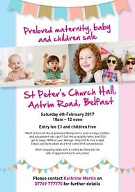Preloved Maternity baby and Childrens Sale St Peter's Church Sat 4th Feb 10am - 12 noon