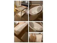 IKEA changing unit + Shnuggle Baby bath