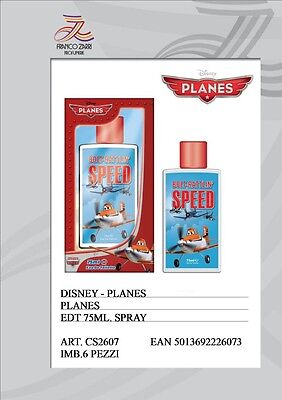 SPEED PLANES DISNEY PROFUMO PER BAMBINI  EDT EAU DE TOILETTE 75 ML. ATO