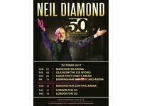 2x Neil Diamond Tickets London O2 Arena Tuesday 17th October 2017