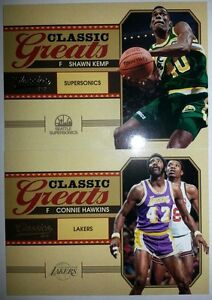 2010-11 PANINI CLASSICS SHAWN KEMP CONNIE HAWKINS GREATS RARE INSERT CARDS