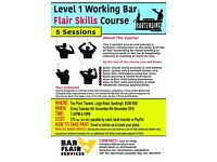 Level 1 Working Bar Flair Skills Course starting 8th November 2016