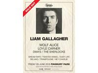 Liam Gallagher Finsbury Park 29th June