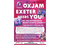 Interested in music? Events? Charity? Oxjam Exeter needs you!