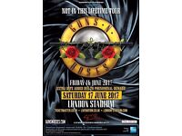 4 Tickets available - Guns n Roses 17th June, London