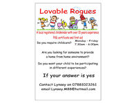 Registered Childminder - Lovable Rouges - Broxburn area
