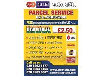 By Air UK FREE PICK UP £2.50* kg INDIA PARCEL SERVICE & CHEP DOCUMENT,CARGO,EXESS BAGGAGE WORLDWIDE