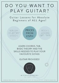 Guitar Lessons for Beginners of ALL AGES! BOOK 7 LESSONS FOR ONLY £100! - Guitar Provided!