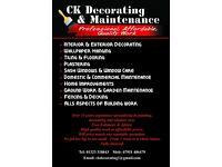 CK Decorating- painting, wallpapering, plastering, tiling, flooring, garden maintenance, building