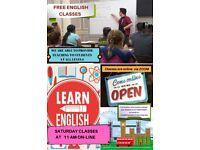 FREE ENGLISH CLASSES - SATURDAY MORNINGS