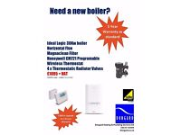 NEW BOILER, 5/10 YEAR WARRANTY, SUPPLIED & INSTALLED BY GAS SAFE ENGINEER - FAST RESPONSE