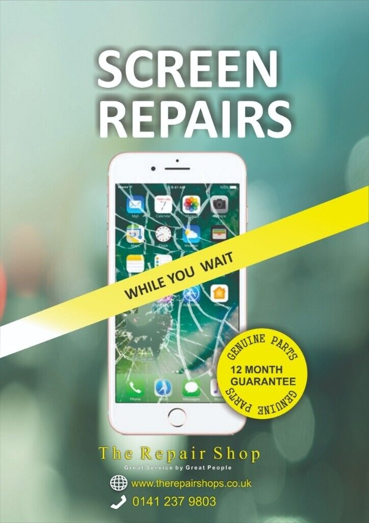 WHILE YOU WAIT Repair Apple iPhone, iPad Glass Screen