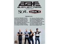 Alien Ant Farm, Rock City, Nottingham, Sunday 18th Feb, 2 tickets at face value