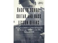 Back to School GUITAR and BASS Lesson OFFERS!
