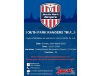 South Park Rangers Football Trials