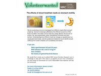 Healthy male volunteers required!