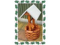A Nice Hand Made Well Built Wooden Wishing Well Planter