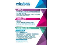 Wireless X2 tickets Sunday 2018. £250 each