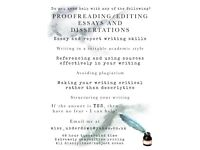 Proofreading / Essay and Dissertation Help / University Report Writing