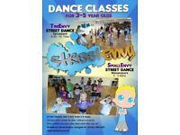 Ages 3-5 years street dance classes in Bristol