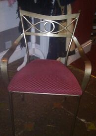 Decorative, wrought Iron Chairs