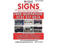 Shop Front Sign/3D Letters /Illuminated/ Light Box / Sign Board/Repair/Large Format Printing