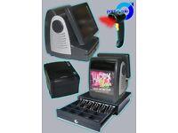 Full Setup Epos Till Cash Drawer Scanner Receipt Printer & 50,000 barcodes suitable for Corner Shop