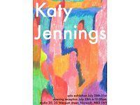 Katy Jennings - Art Exhibition - 24th - 26th July - Studio 20, Norwich