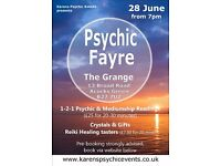 Psychic Evening at The Grange Acocks Green on 28 June