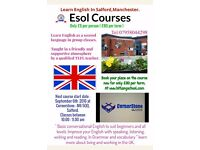 Learn English & ESOL Courses in Salford,Manchester for only £5 per person