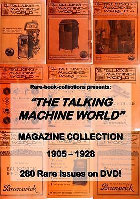 280 RARE ANTIQUE RADIO & PHONOGRAPH MAGAZINES - 2 DVDs - VINTAGE SOUND RECORDING