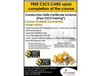 FREE CSCS CARD