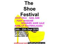 The Shoe Festival - Designer shoe sale - FREE TICKETS