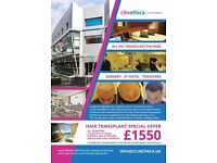 Unbelievable Cosmetic Surgery prices - Hair Transplant £1550