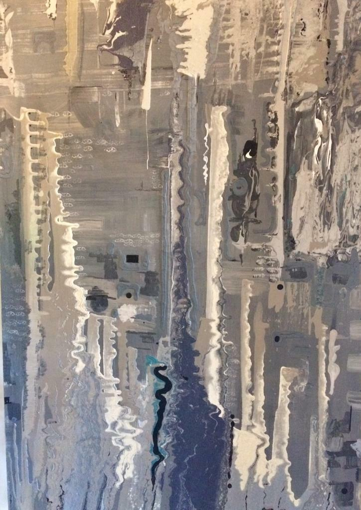 7e19f2488efc86 Large Original Hand Painted Abstract by Diane Plant. Ealing Broadway ...