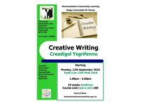 Creative Writing Class starting at Monmouth Community Hub this September 2016