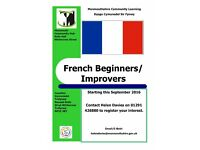 French for Beginners/Improvers classes starting at Monmouth Community Hub this September 2016