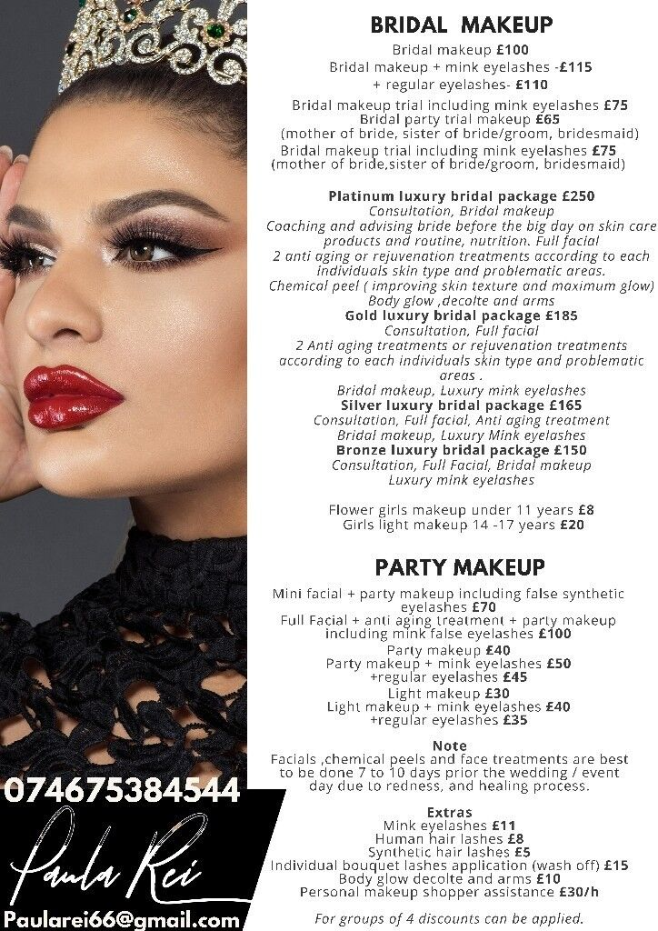 Award Winning Makeup Artist For Wedding Asian English Bridal Party