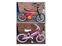 14 inch Bikes - Bumper Fire & Barbie