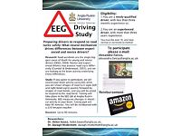 Novice Drivers needed for paid EEG Research at Anglia Ruskin University, Cambridge