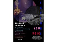 Singing lesson ;credentials - 16 years of professional singing, MMus in popular music and friendly!!