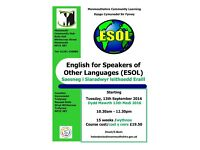 ESOL English for Speakers of Other Languages class starting at Monmouth Community Hub September 2016