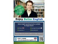 Enjoy Better English! Book Skype lessons with a Cambridge CELTA qualified teacher :-)