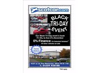 Black Tri-Day Sale- 0% Finance Available On Selected Vehicles