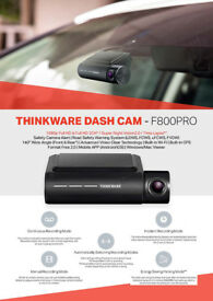 Thinkware F800 front and rear camera 32gb hardwire edinburgh glasgow dundee call
