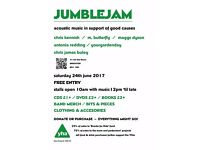 JumbleJam - Live music and charity table sale